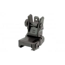 AR15 – Tacca di mira posteriore Flip Up Low Profile - Picatinny