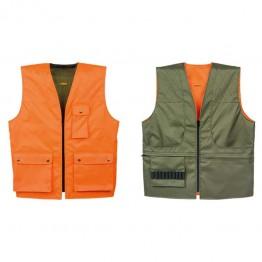 Gilet da caccia reversibile Verde/Arancio - Varie Taglie