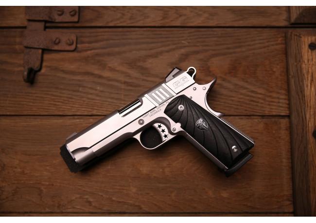 Cabot Gun S103 Commander 1911 Style .45 ACP G10 Fibonacci mancina Mirino al Trizio + tacca di mira regolabile Novak