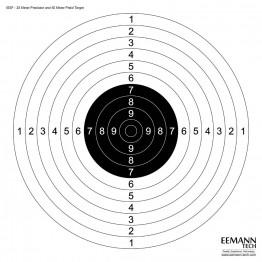Bersaglio ISSF Pistola 25 e 50 m - 100 Pz